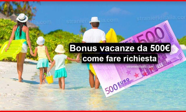 Bonus vacanze da 500 euro: Ecco come fare richiesta