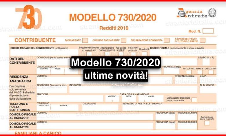 Modello 730/2020 - Novità: Ecco cosa c'è da sapere!