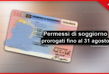 Photo of Permessi di soggiorno prorogati fino al 31 agosto   Stranieri d'Italia