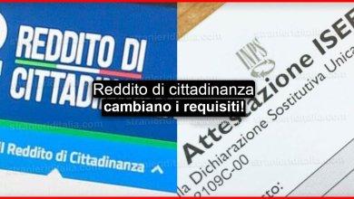 Photo of Reddito di cittadinanza: Cambiano i requisiti per l'ISEE