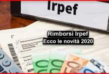 Photo of Rimborsi Irpef 2020: Ecco le novità decreto Rilancio