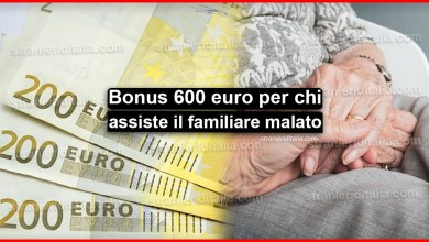 Photo of Bonus di 600 euro per chi assiste un familiare malato o disabile
