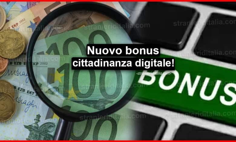 Nuovo bonus cittadinanza digitale: Come ottenerlo?