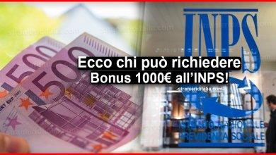 Photo of Bonus 1000 Euro: ecco chi può richiederlo all'INPS