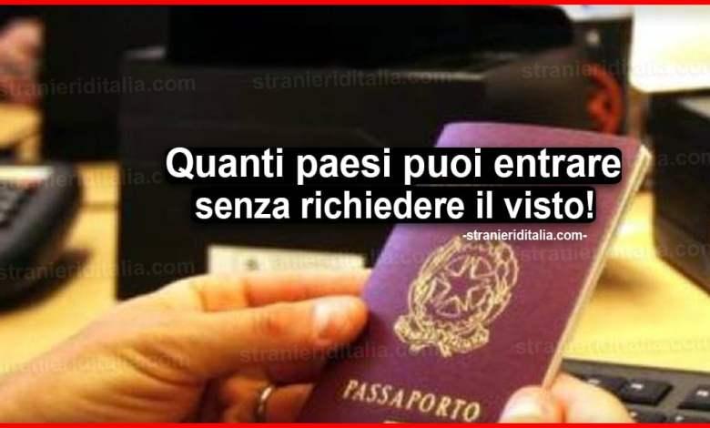 Viaggio senza visto 2020: Dove posso andare con il passaport