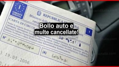 Photo of Bollo auto e multe cancellate: ecco chi sono i fortunati!