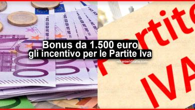 Photo of Bonus da 1.500 euro: ecco gli incentivo per le Partite Iva