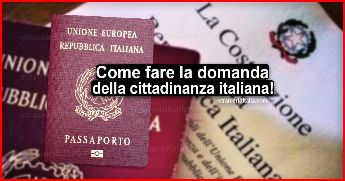 Cittadinanza Italiana 2020 Come Fare Domanda