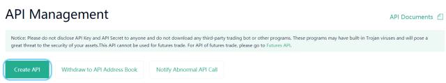 Choose Create API