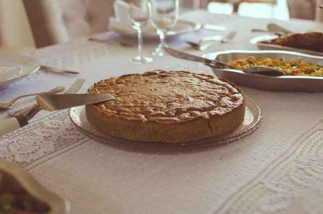 photo of pie on plate