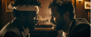 Source: Collider | Cassius (LaKeith Stanfield) & Steve Lift (Armie Hammer) in Sorry To Bother You (2018)