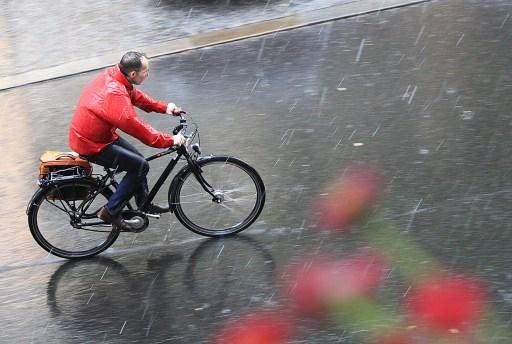 Radfahren im Regen