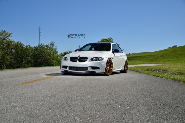 Strasse Wheels - Mineral White BMW E92 M3 - SV5 Deep Concave Monoblock 1