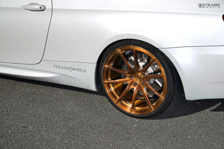 Strasse Wheels - Mineral White BMW E92 M3 - SV5 Deep Concave Monoblock 11