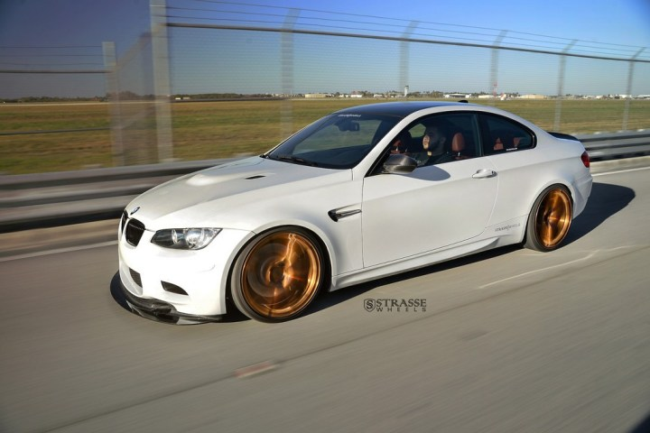 Strasse Wheels - Mineral White BMW E92 M3 - SV5 Deep Concave Monoblock 8