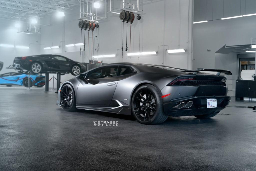 "Matte Black Lamborghini Huracan LP610-4 - 20"" SV1 Deep Concave Monoblock Wheels - Strasse Wheels 10"