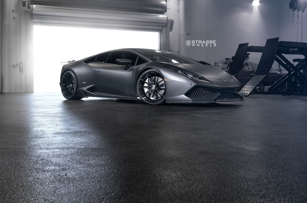 "Matte Black Lamborghini Huracan LP610-4 - 20"" SV1 Deep Concave Monoblock Wheels - Strasse Wheels 2"