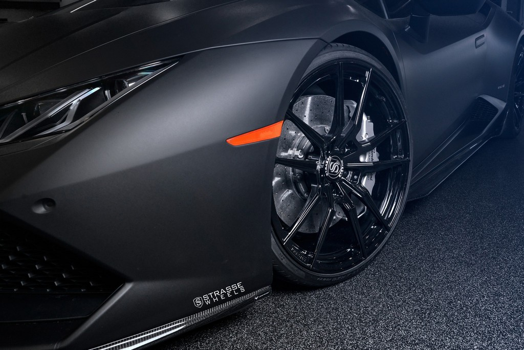 "Matte Black Lamborghini Huracan LP610-4 - 20"" SV1 Deep Concave Monoblock Wheels - Strasse Wheels 3"