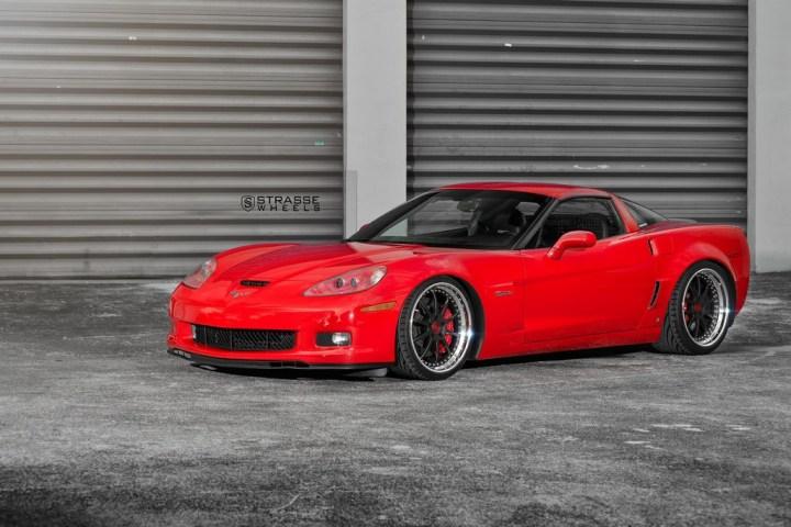 Strasse Wheels Red C6 Z06 R10 6