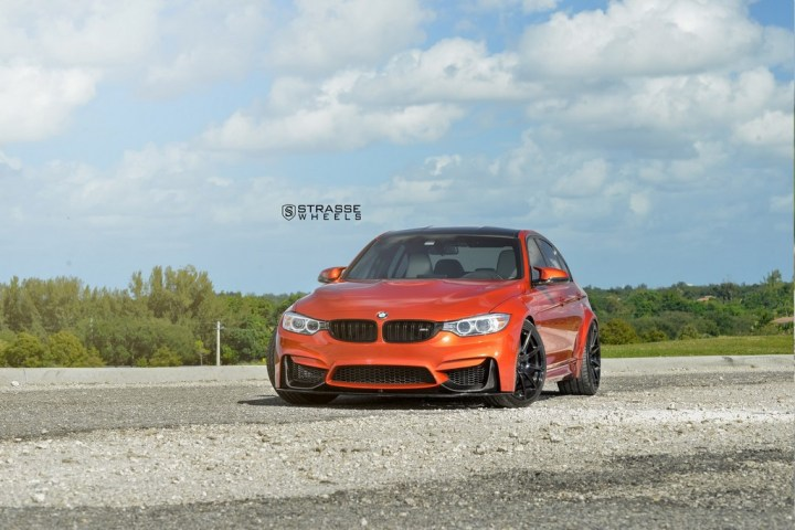 Strasse Wheels Sakhir Orange BMW M3 6