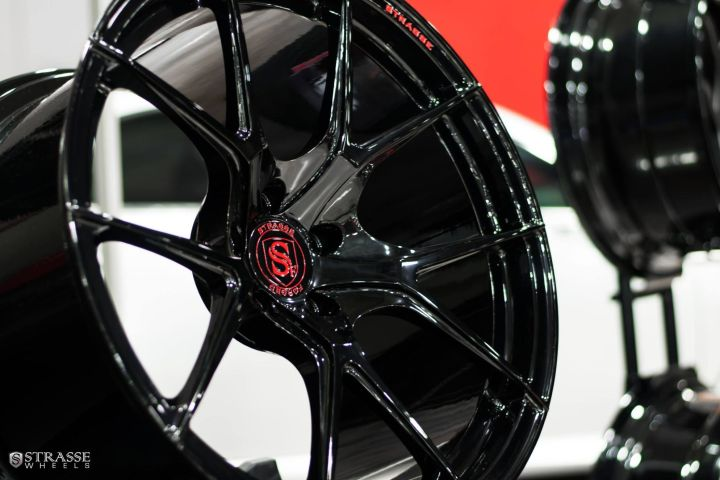 SM5-R Deep Concave Monoblock - Gloss Black & Red Logo 12