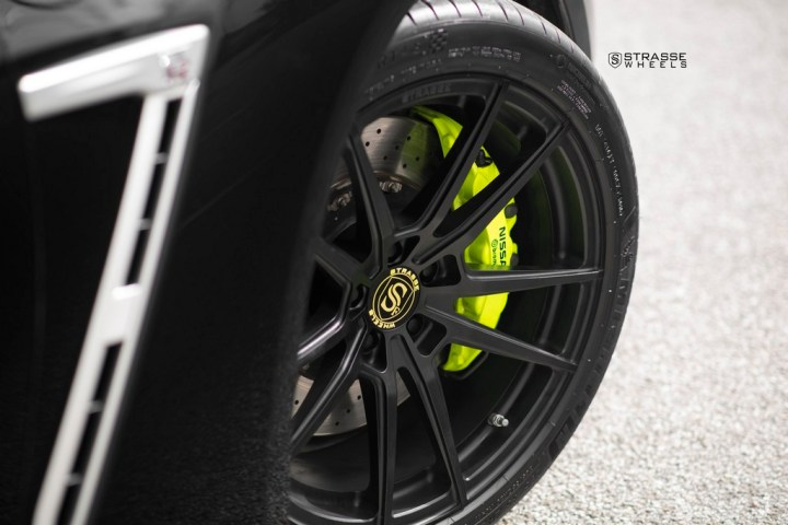 Nissan GT-R - SV1 Deep Concave Monoblock - Satin Black 9