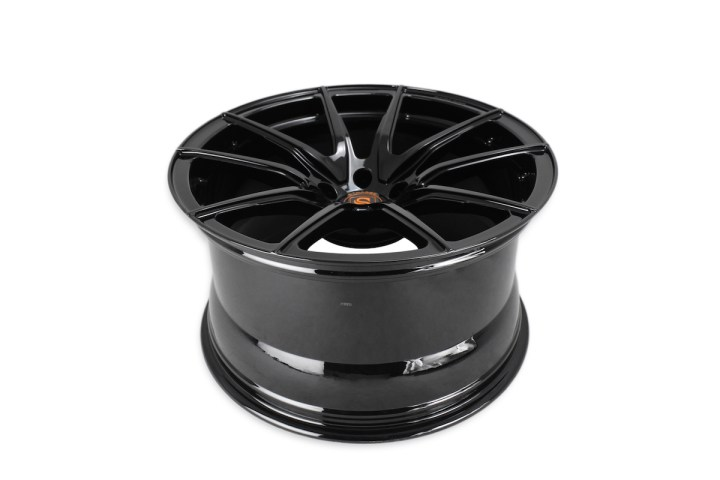SV5 Deep Concave Monoblock - Gloss Black & Orange 5