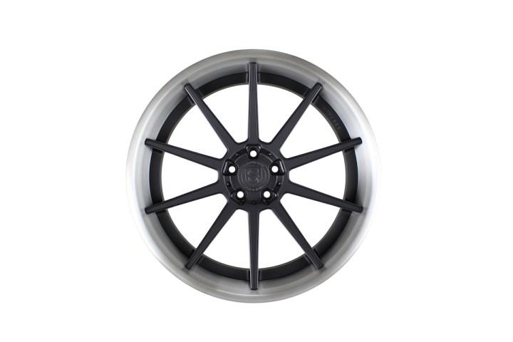 R10 Deep Concave - Satin Black & Gloss Brushed Titanium 1