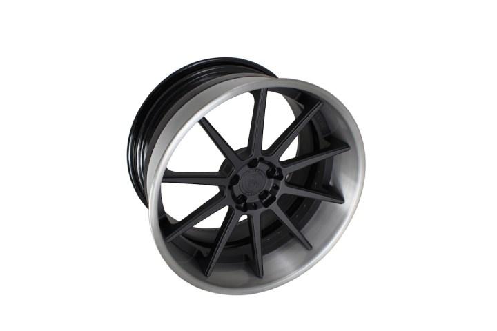 R10 Deep Concave - Satin Black & Gloss Brushed Titanium 6