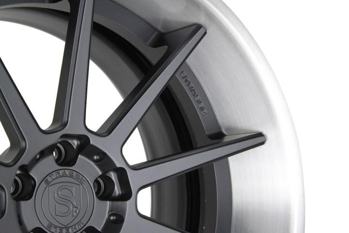 R10 Deep Concave - Satin Black & Gloss Brushed Titanium 7