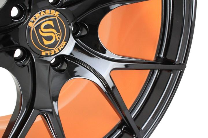SM5R Deep Concave Monoblock - Gloss Black & Arancio Borealis Barrel 6
