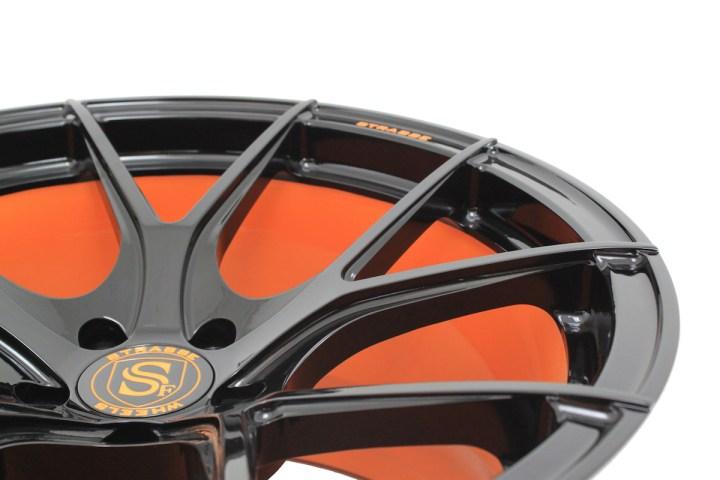 SM5R Deep Concave Monoblock - Gloss Black & Arancio Borealis Barrel 9