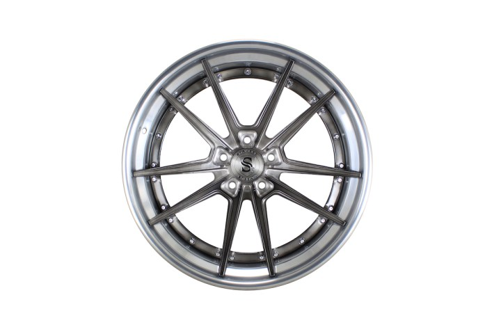 SV1 Deep Concave FS - Gloss Brushed Titanium & High Polish 1