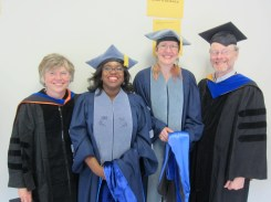 Our two recent PhD graduates (2012), Chandra Jack (second from the left) and Debbie Brock (third from the left), with Joan and Dave.