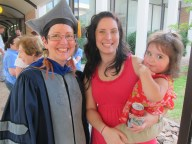 Recent (2012) PhD graduate Debbie Brock with daughter and granddaughter at graduation.