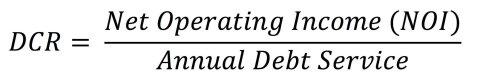 Debt Cover Ratio (DCR) Formula JPG