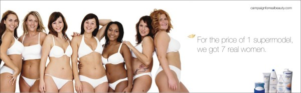 An ad from Dove's 'Real Women' campaign