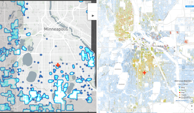 A map of racial covenants closely matches a map of Minneapolis' population