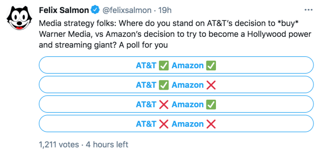 Felix Salmon's question about AT&T and Amazon
