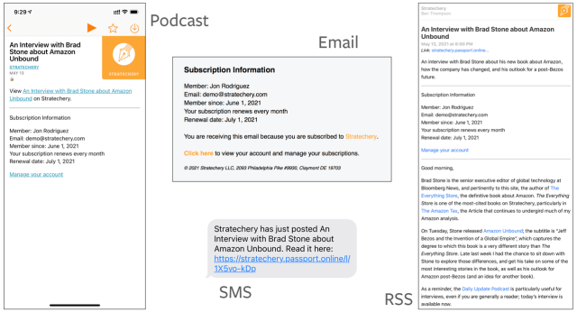 Passport customizes content to Stratechery subscribers