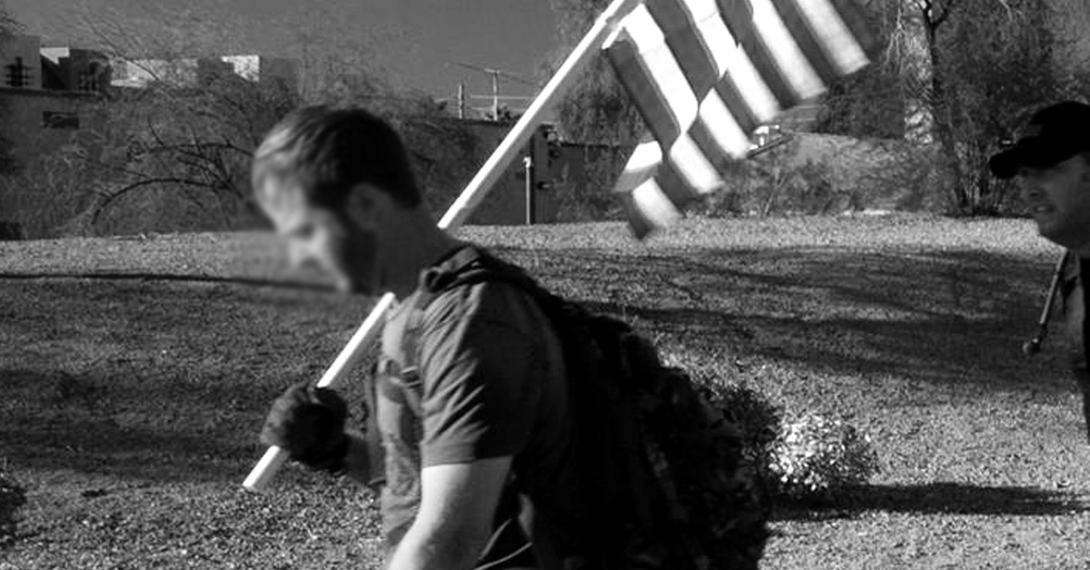 Rucking with flag