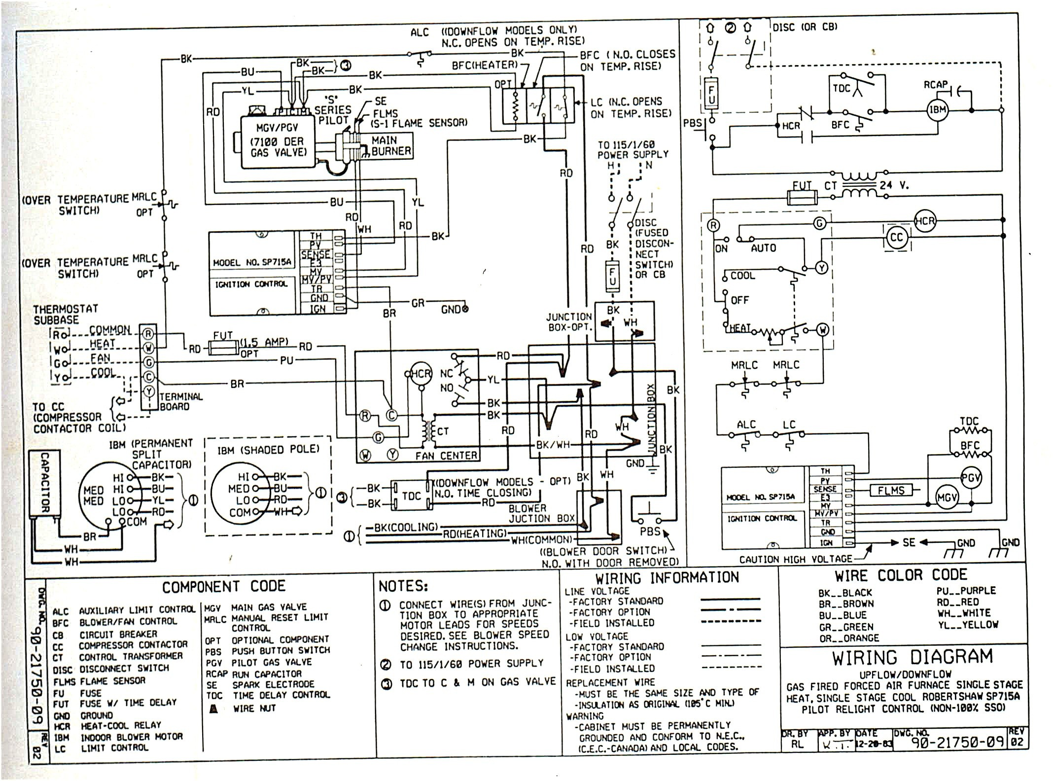 Amana Gas Furnace Electrical Schematic - Res Wiring Diagrams on