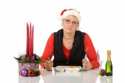 Sad woman during holidays