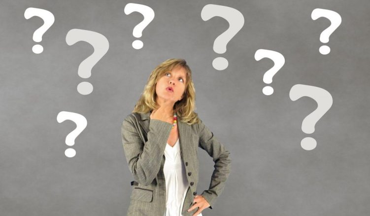 woman with questions about divorce season