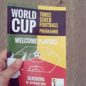three-sided football world cup programme