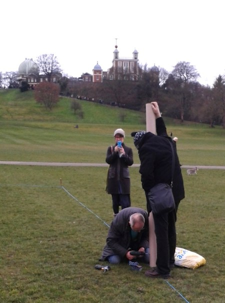 First Quantum Flux Footballum Equinox Fest (FQFFEF) London, March 17-25th, 8 AoP (2016 Vulg.) Quantum Superimposition London (c)Up Wahdat of 3SF Kathiral, Greenwich Park (a psychic anchor of absolute time). Superimposition of 99 players for one game of 9 teams consisting of 11 players each (London, Amsterdam, Carrara)