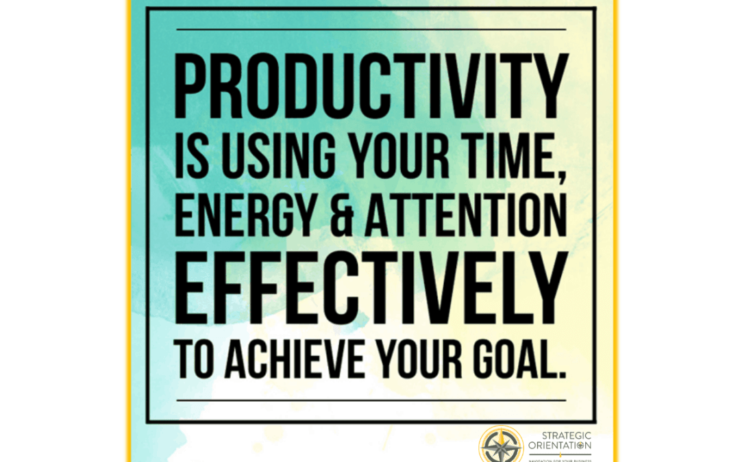 Three Keys to Managing Productivity