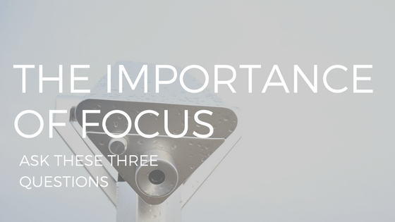 "text ""the importance of focus"" over a telescope photo"