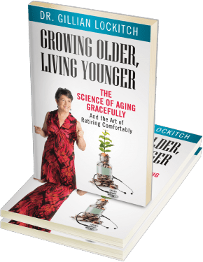 """Cover of """"growing older living younger"""" by Dr. Gillian Lockitch"""