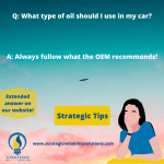 Recommended oil – Automotive